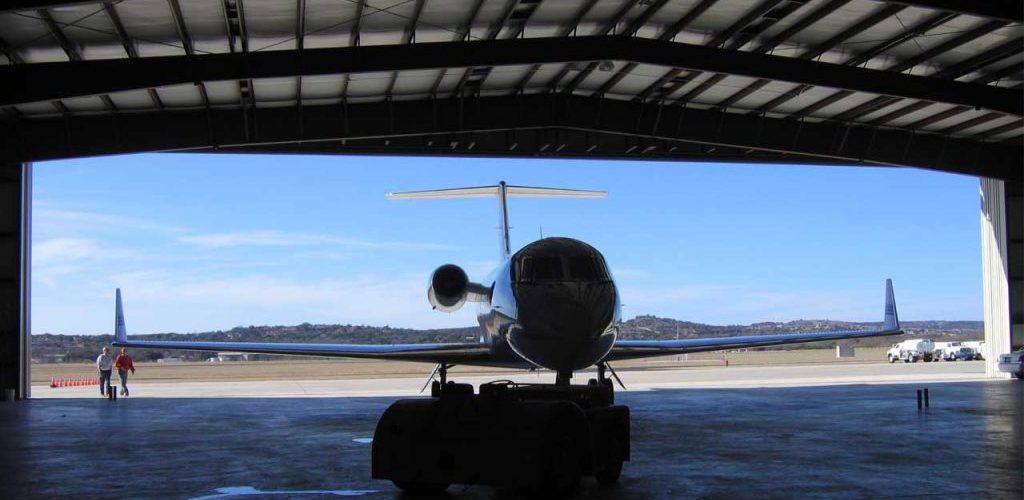 Gulf Stream G5 accommodated by Kerrville Aviation's Hangar #5